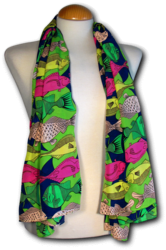 Scarve Fishes green