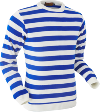 Jumper Stripes creme-blue