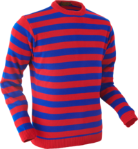 Jumper Stripes red-blue