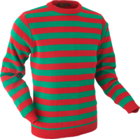 Jumper Stripes green-red