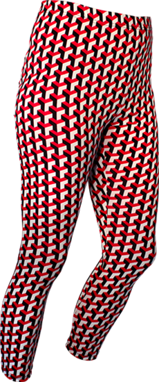 Leggings Stairs black, red, creme