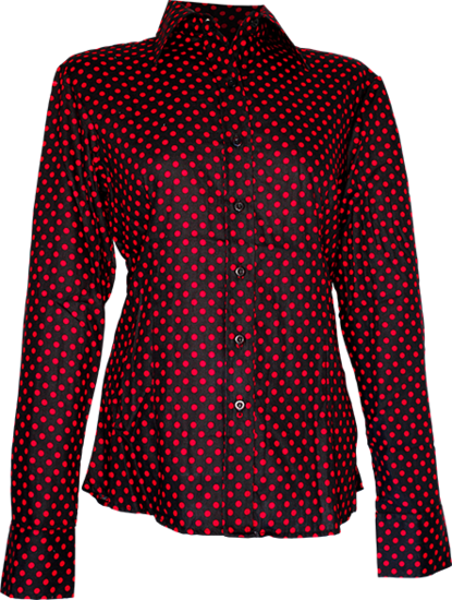 Lady Blouse Polka-Dots black, red