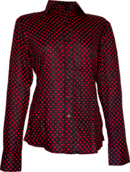 Blouse Polka-Dots black, red