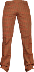 Straight Trouser Scot brown-red